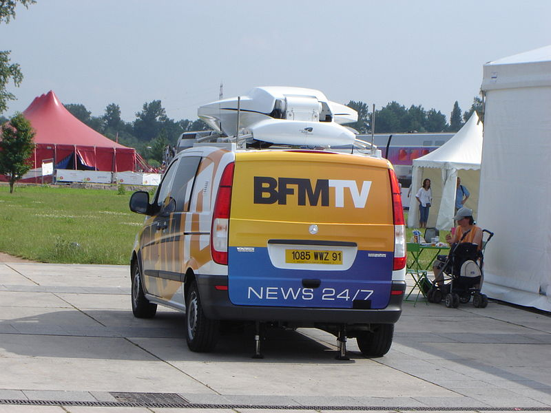camionette BFM TV