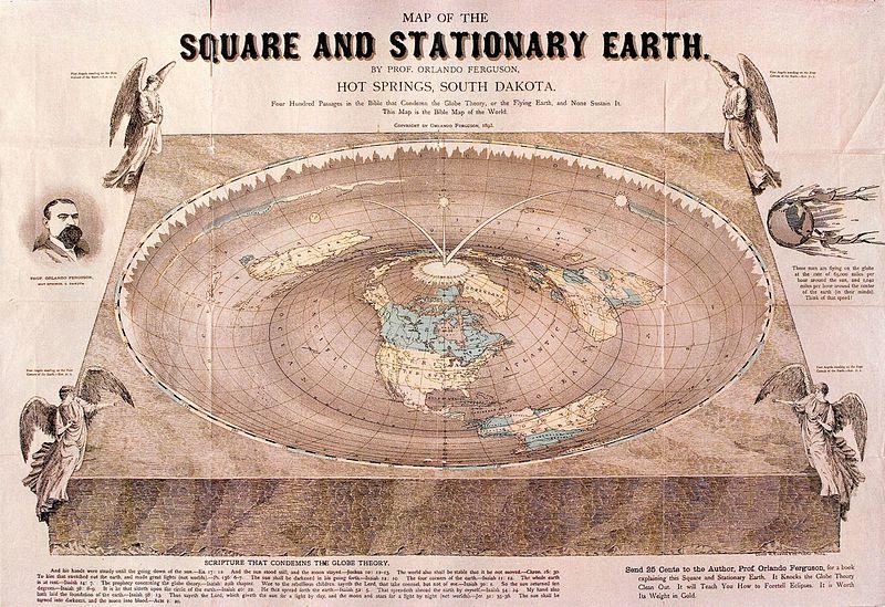 carte Terre plate 1860