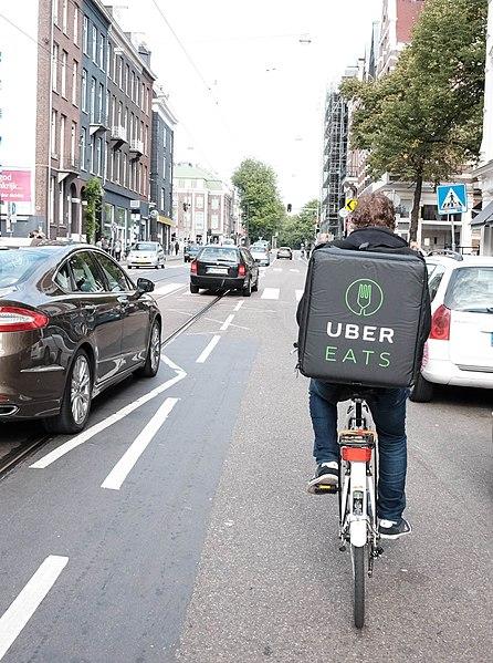 Cycliste Ubereats à Amsterdam