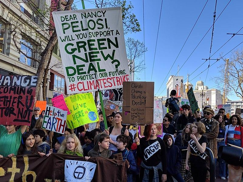 grève étudiante contre réchauffement climatique San Francisco