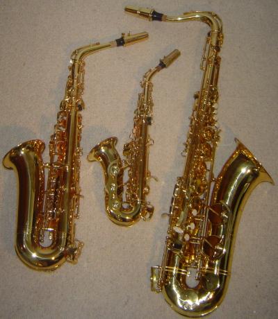 sxophone soprano alto ténor