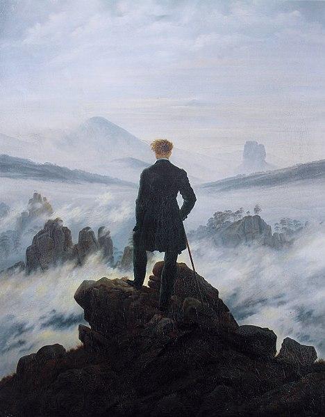 romantisme hugo le voyageur au-dessus de la mer de nuages
