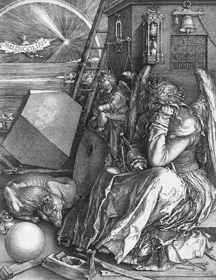Mélancolie Dürer Baudelaire bile noire atrabile