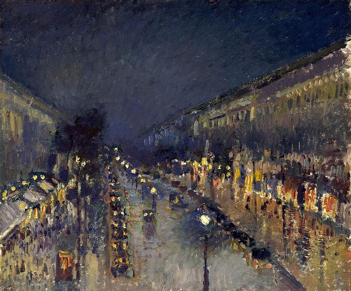 Pissaro Montmartre éclaiage public