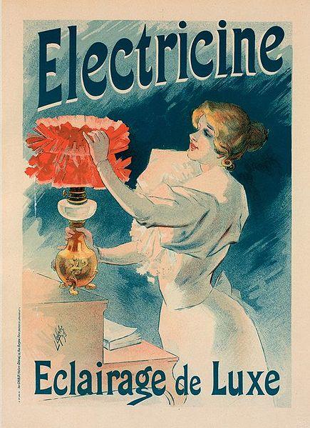 publicité belle époque électricité ménages équipés