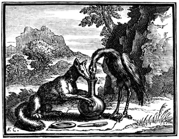 la renard et la cigogne fable de La Fontaine