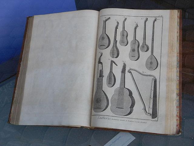 Encyclopédie Diderot d'Alembert planche lutherie arts et métiers