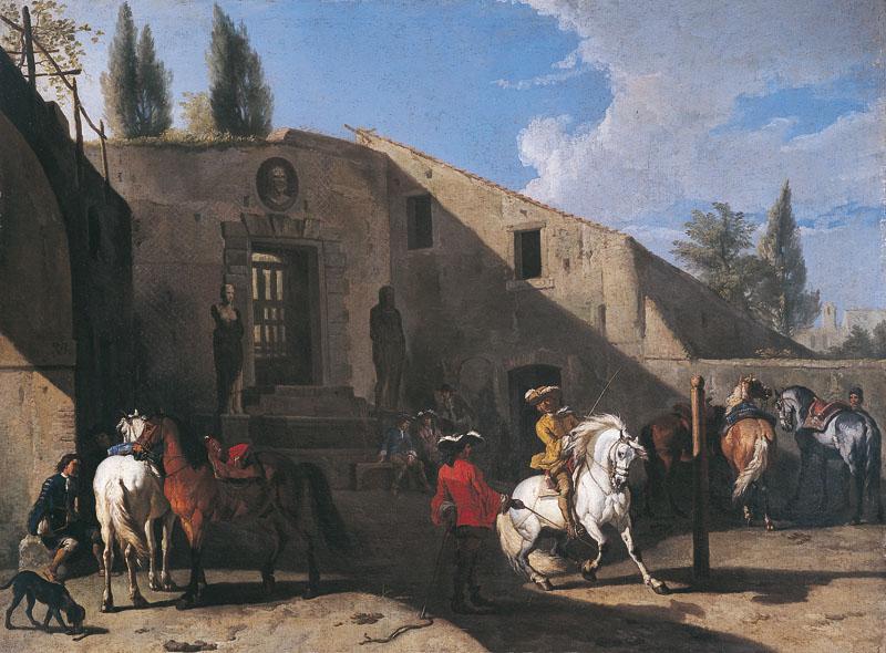pieter van bloemen manège cavaliers XVIIIe