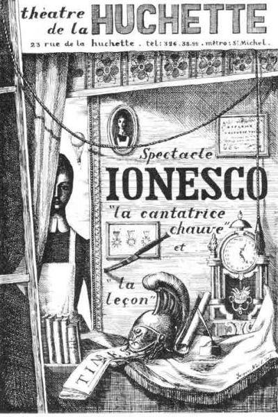 La Cantatrice chauve Ionesco théâtre huchette absurde