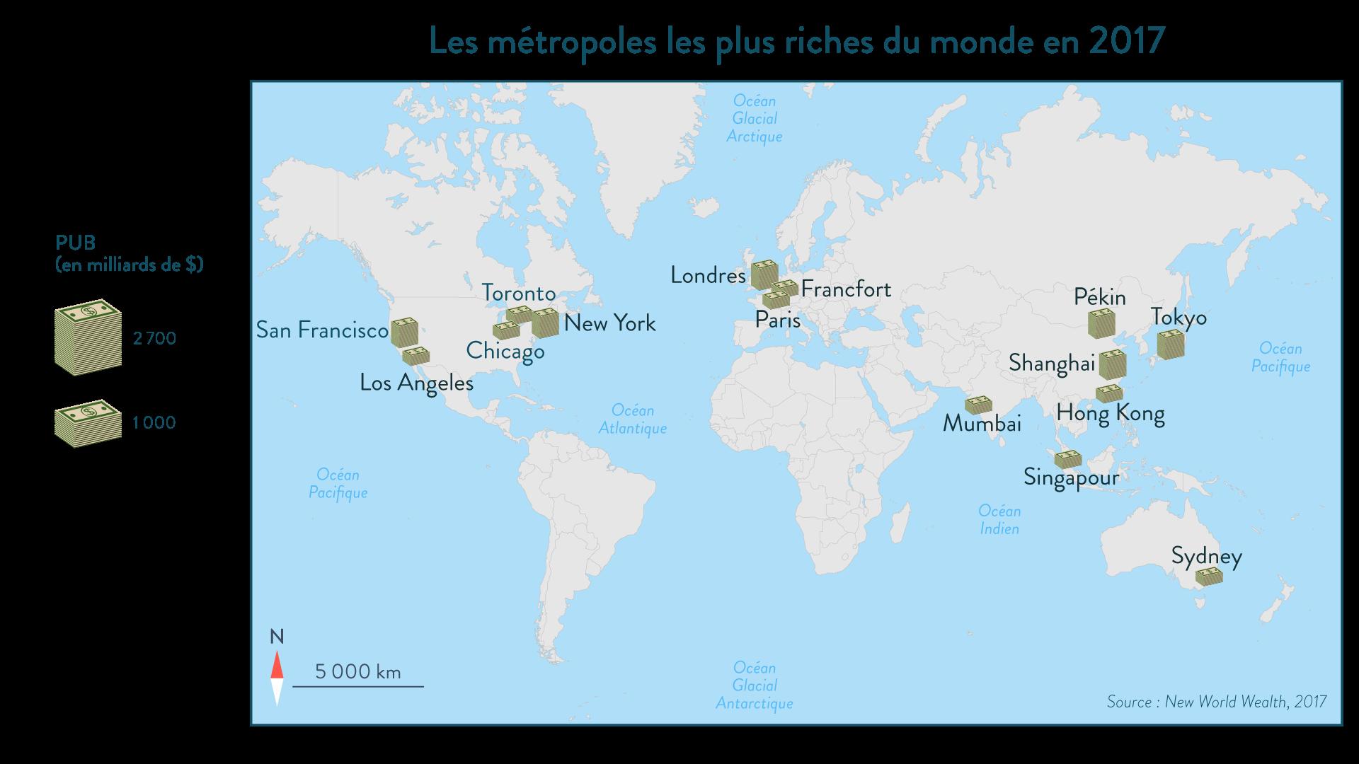 Les métropoles les plus riches du monde en 2017 - Géographie - 1re - SchoolMouv