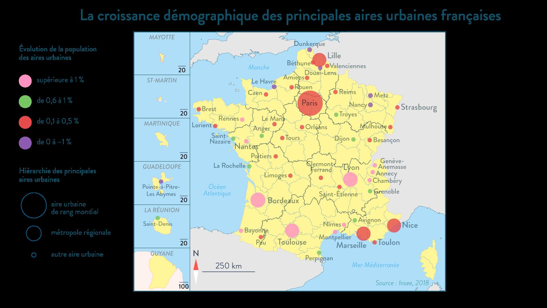 La croissance démographique des principales aires urbaines française - géographie - 1re - SchoolMouv