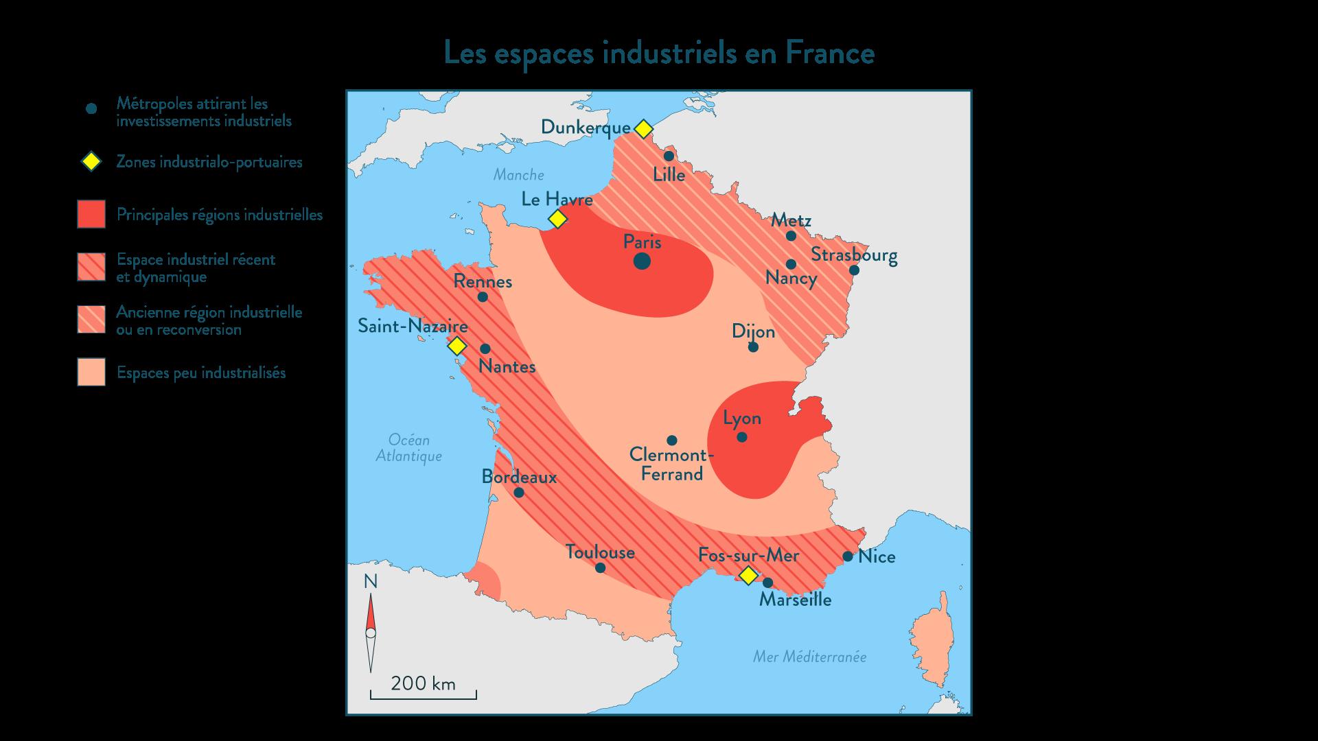 Les espaces industriels en France - 1re - géo - SchoolMouv