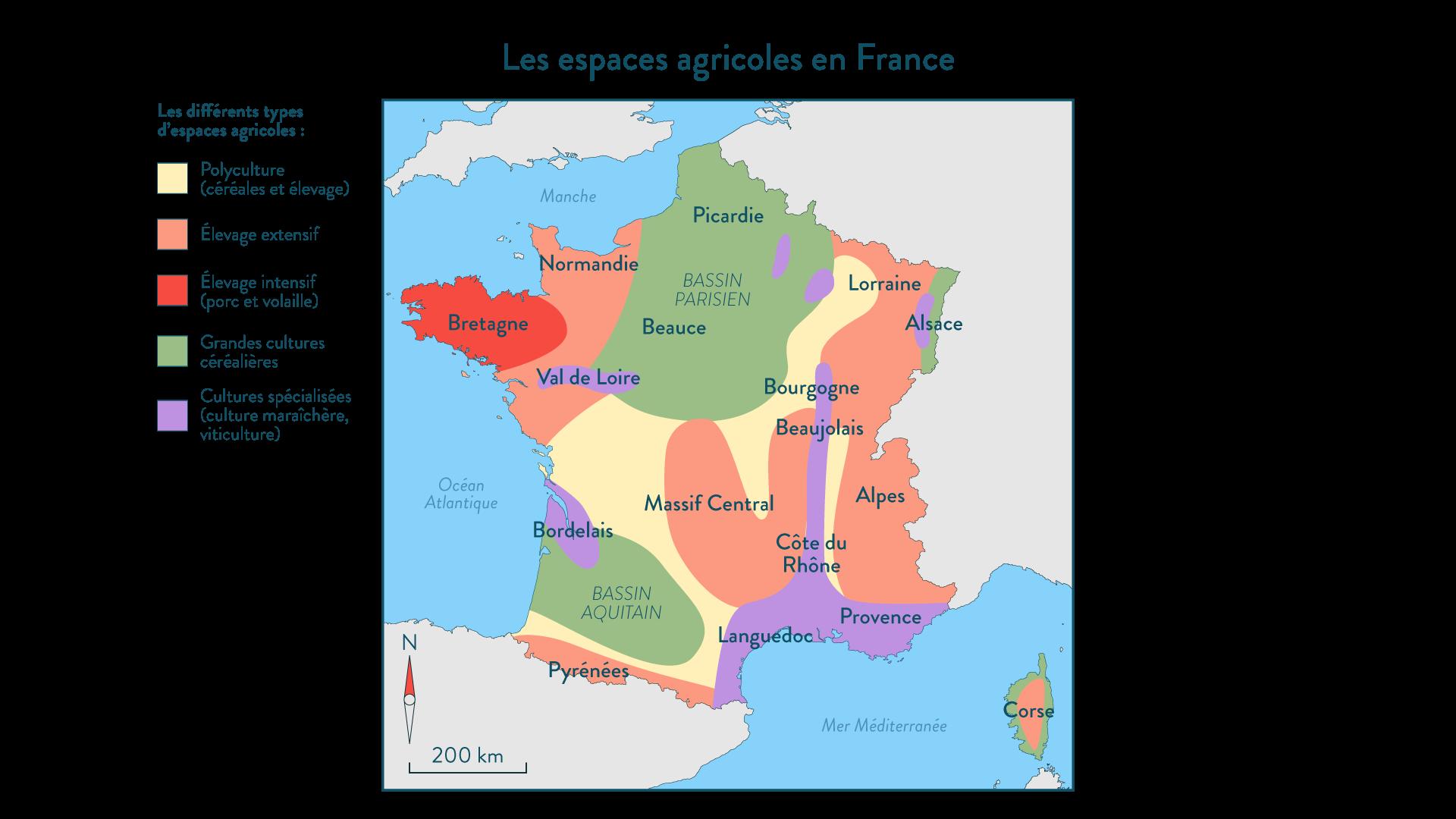 Les espaces agricoles en France
