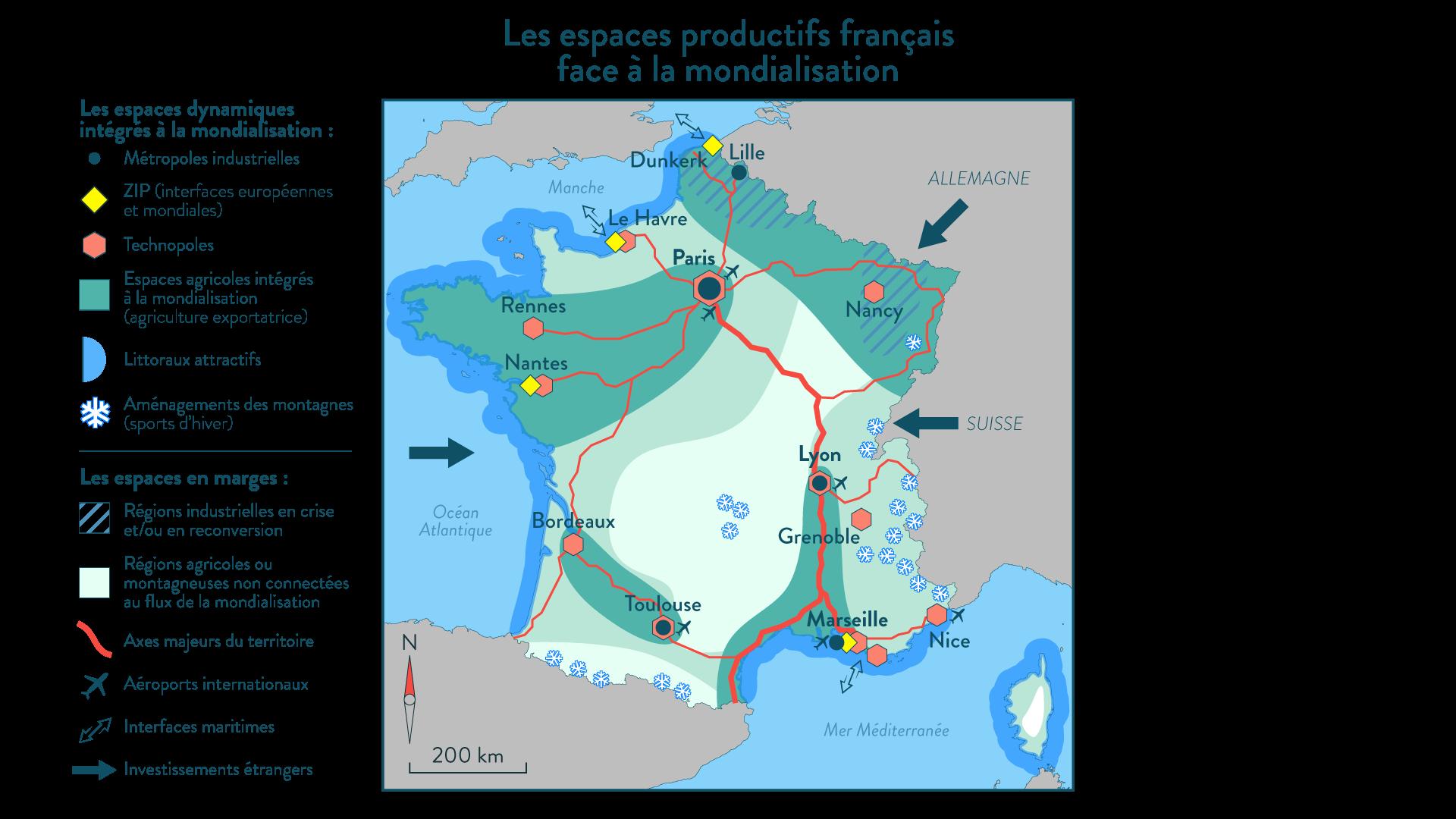 Les espaces productifs français face à la mondialisation - géographie - SchoolMouv