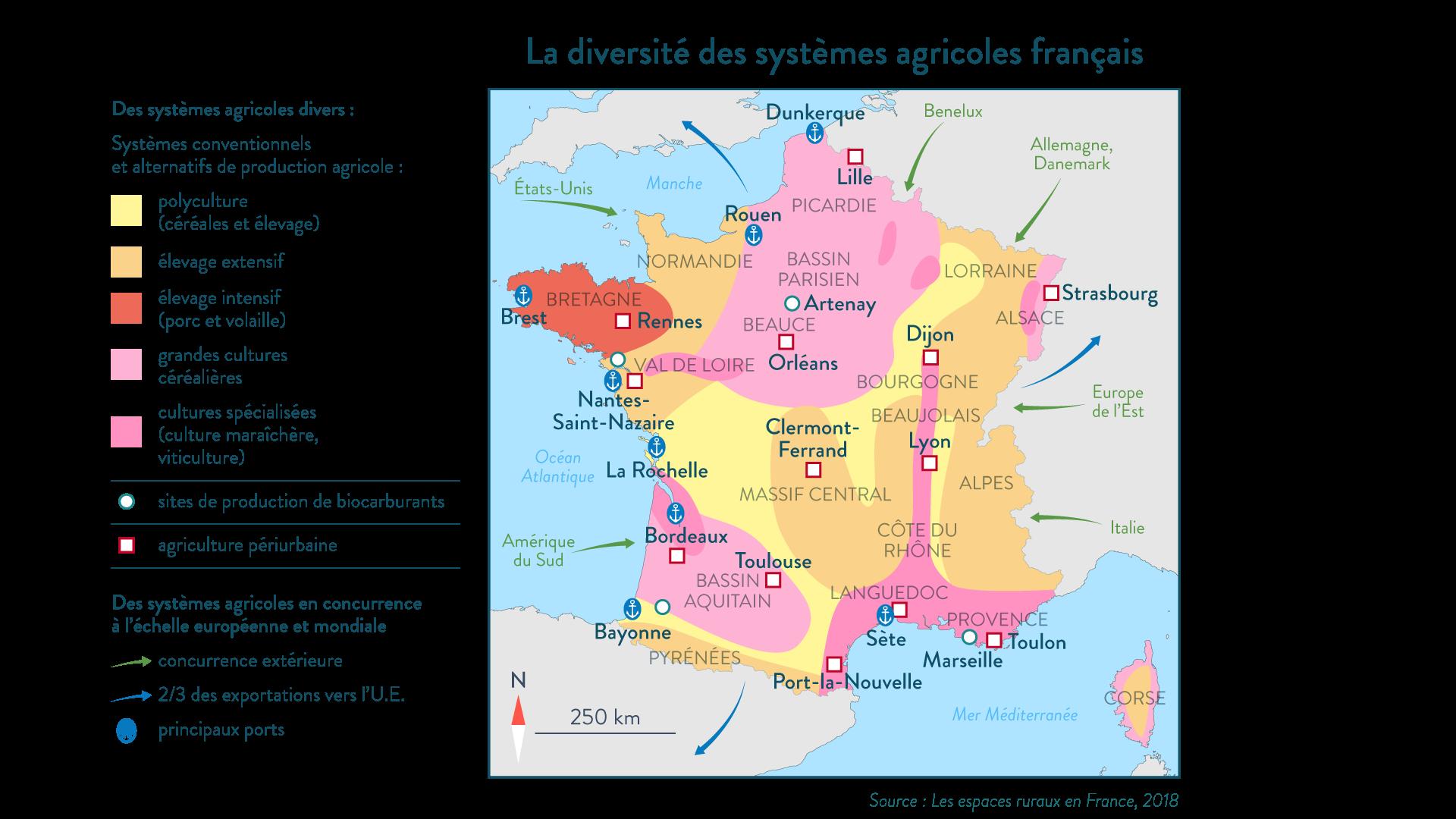 La diversité des systèmes agricoles français - géographie - 1re - SchoolMouv