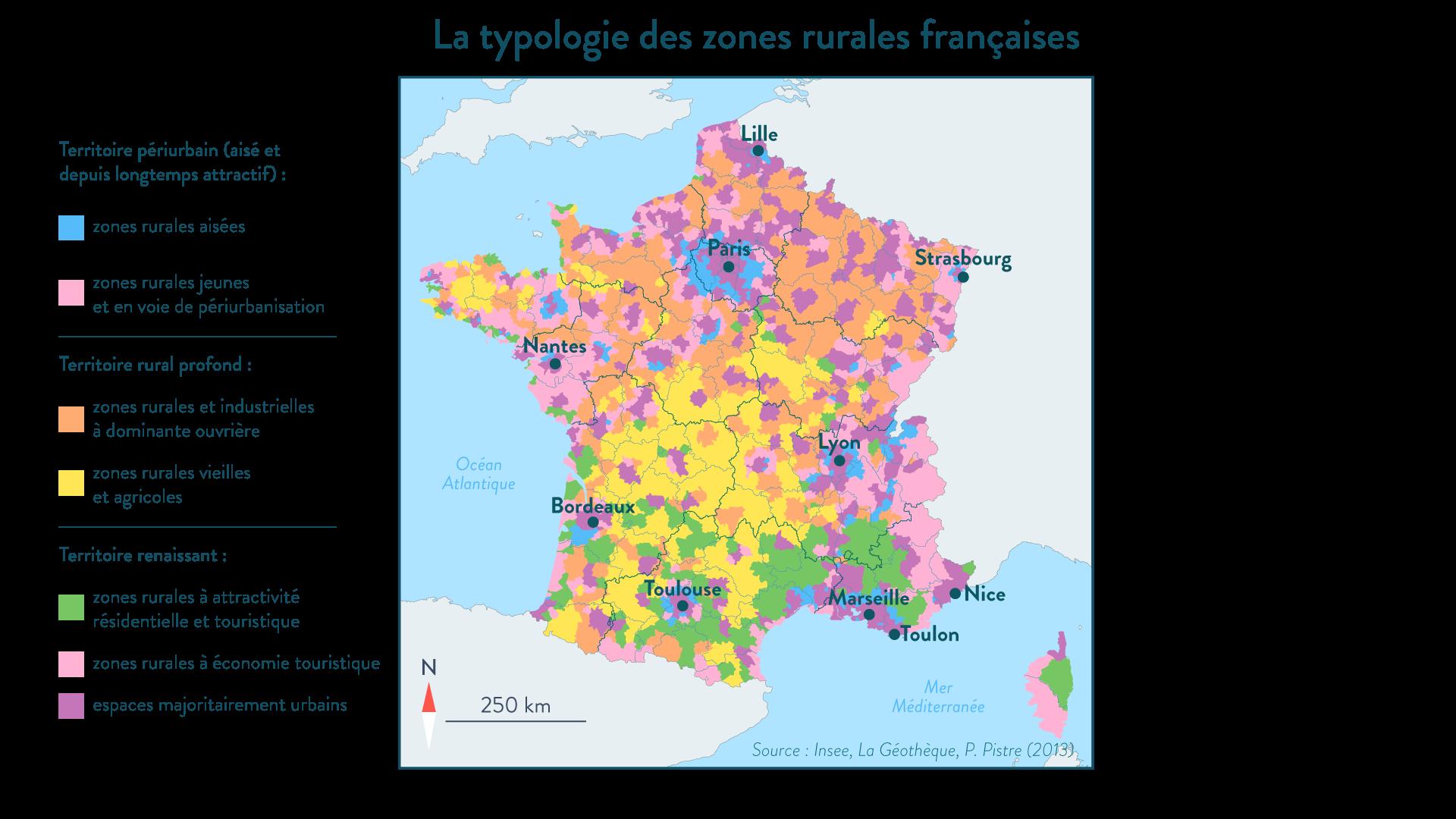 Typologie des régions rurales françaises - SchoolMouv - 1re - géographie