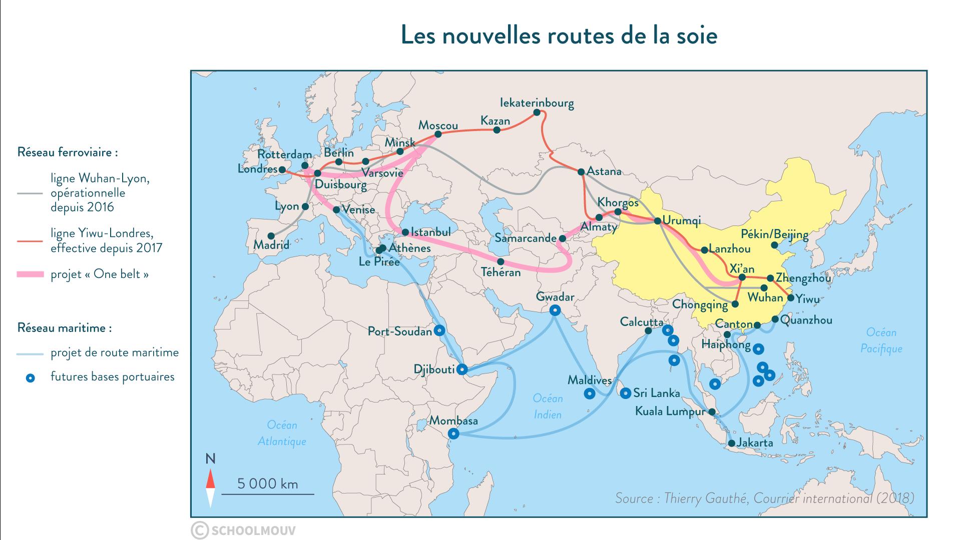 Les nouvelles routes de la soie - géographie - 1re - SchoolMouv