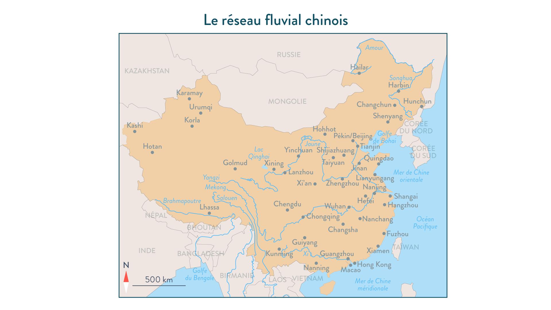 Le réseau fluvial chinois - géographie - 1re - SchoolMouv