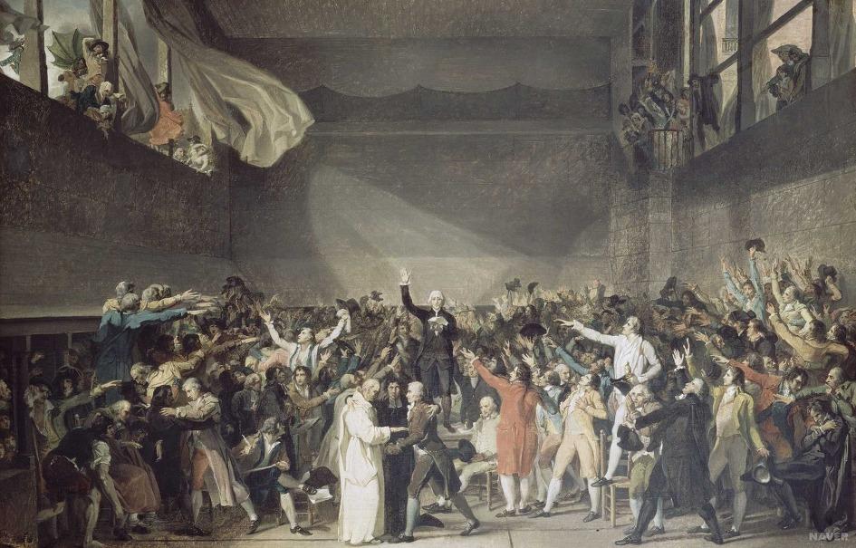 Le Serment du Jeu de paume, David, 1791 - Histoire - 1re- SchoolMouv