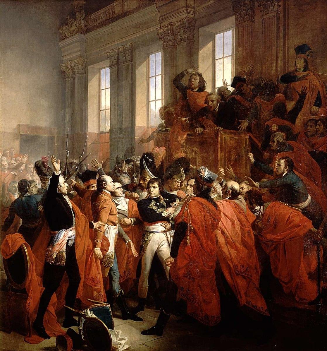 Le général Bonaparte au Conseil des Cinq-Cent - Histoire - SchoolMouv - 1re