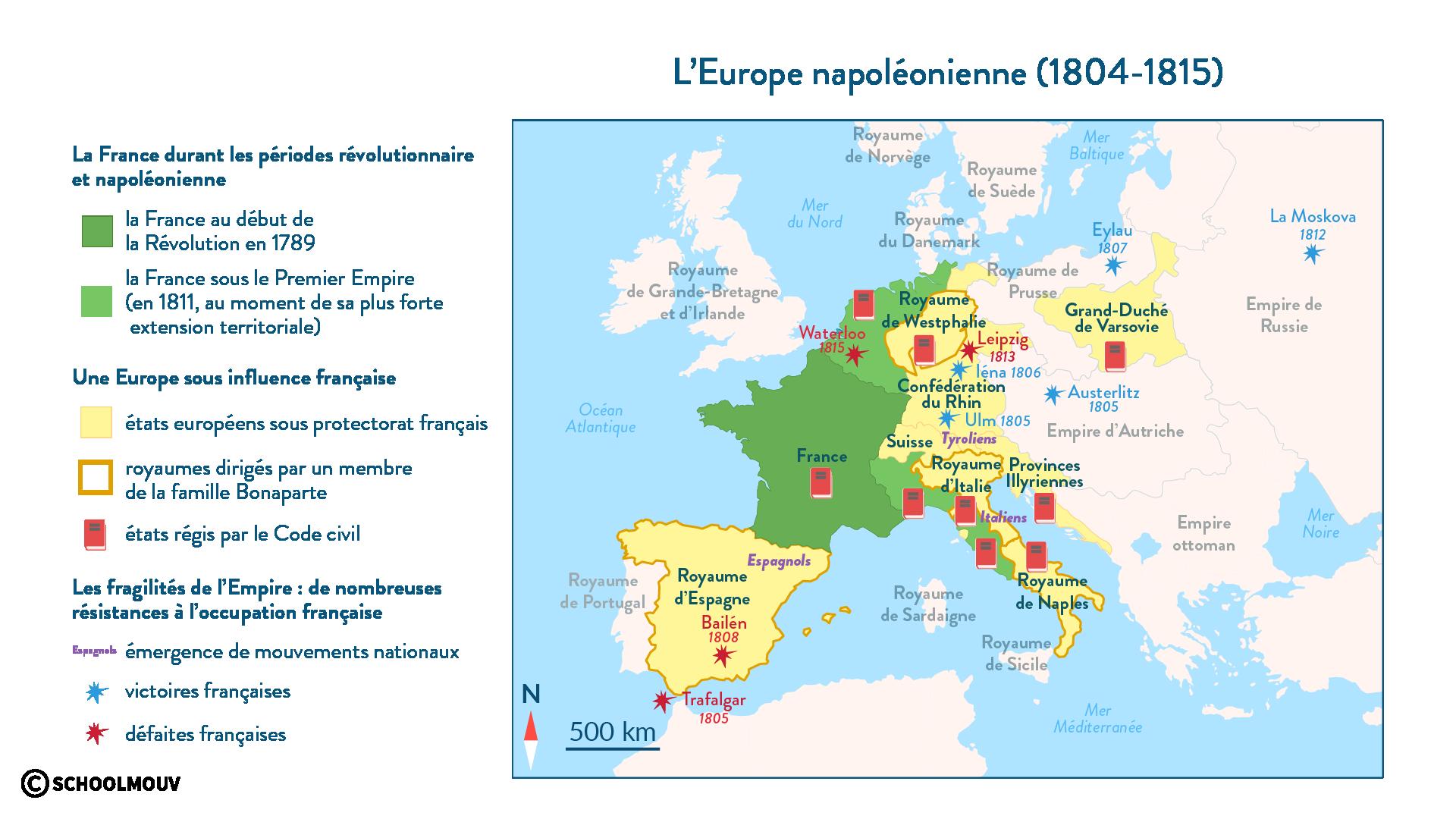 L'Europe napoléonienne (1804-1815) - SchoolMouv - Histoire - 1re