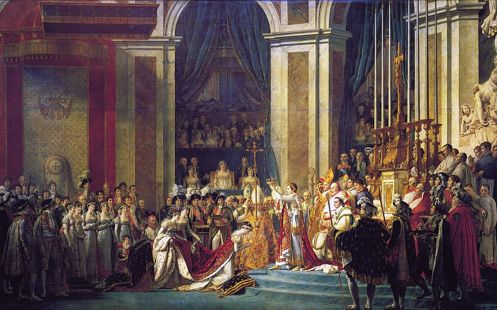 Le sacre de Napoléon, Jacques-Louis David, 1806-1807 - Histoire - 1re - SchoolMouv