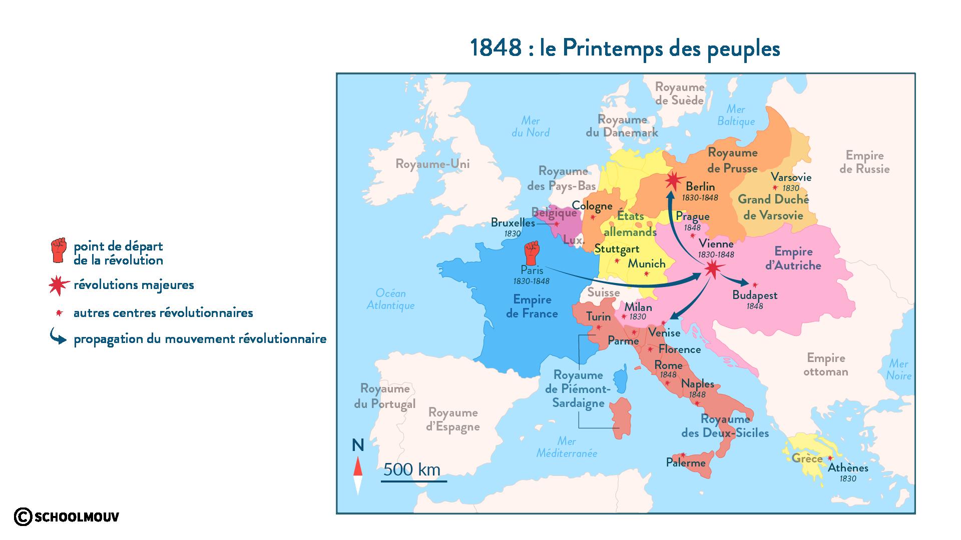 1848 : le Printemps des peuples - Histoire - 1re - SchoolMouv