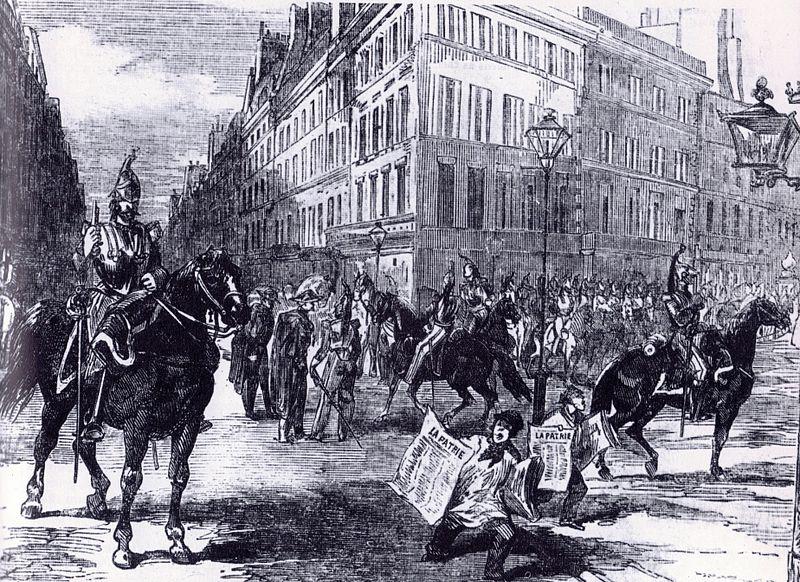Cavalerie dans les rues de Paris, le 2 décembre1851 - Histoire - 1re - SchoolMouv