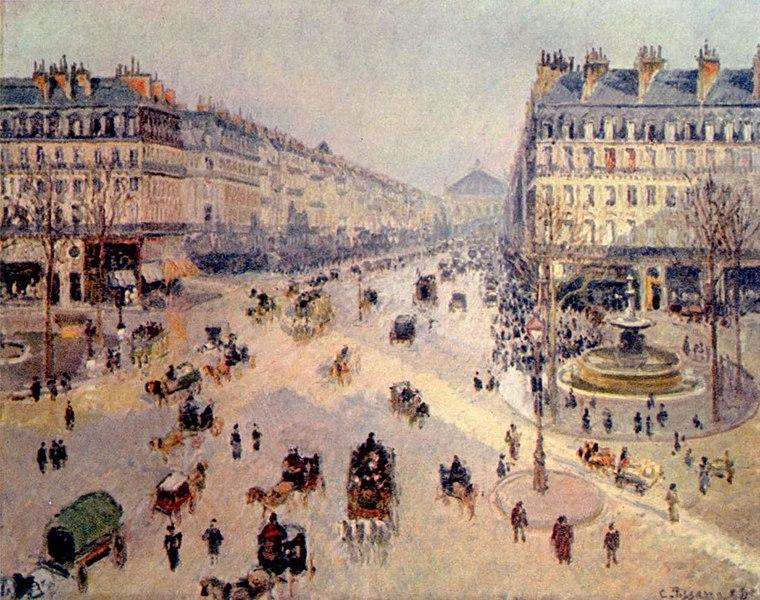 Avenue de l'Opéra, soleil, matinée d'hiver, Camille Pissaro, 1898 - Histoire - SchoolMouv - 1re