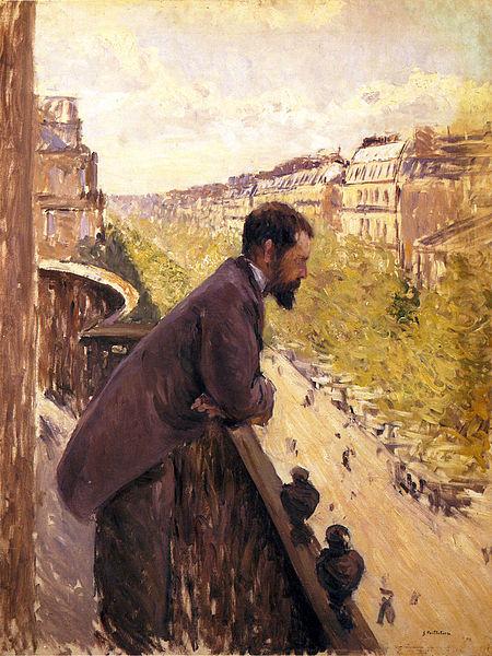 L'Homme au balcon, Gustave Caillebotte,1880 - Histoire - 1re - SchoolMouv