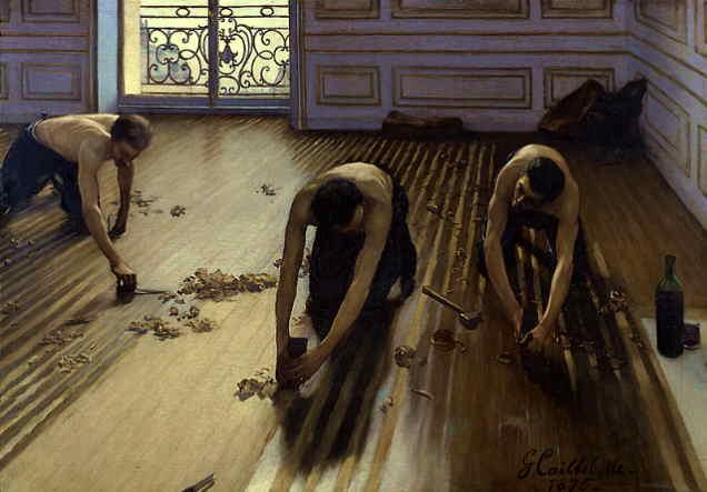 Les Raboteurs de parquet, Gustave Caillebotte,1875 - Histoire - 1re - SchoolMouv