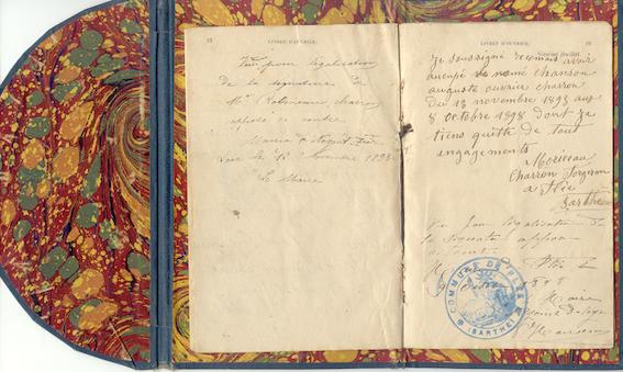 Livret d'ouvrier, 1883 - Histoire - 1re - SchoolMouv