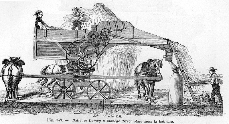 L'essor du machinisme par la révolution agricole : une batteuse en 1881 - Histoire - 1re - SchoolMouv