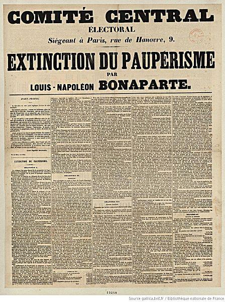 Reproduction de cinq chapitre de l'ouvrage de Louis-Napoléon Bonaparte, L'extinction du paupérisme - SchoolMouv - Histoire - 1re