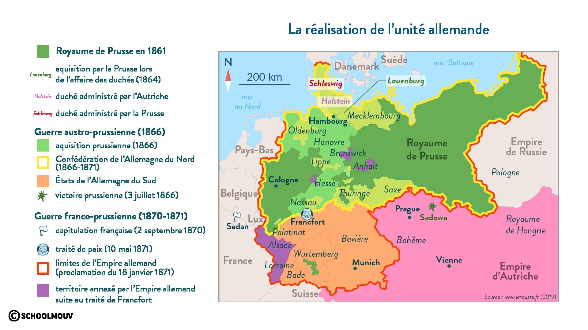 La réalisation de l'unité allemande - Histoire - 1re - SchoolMouv