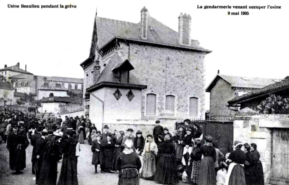 Beaulieu 1905 grève usine - histoire - 1re - SchoolMouv