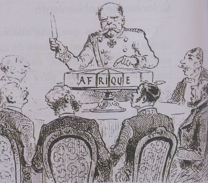 Caricature de la conférence de Berlin, «Découpage de l'Afrique à la conférence de Berlin», 1885 - Histoire - 1re - SchoolMouv