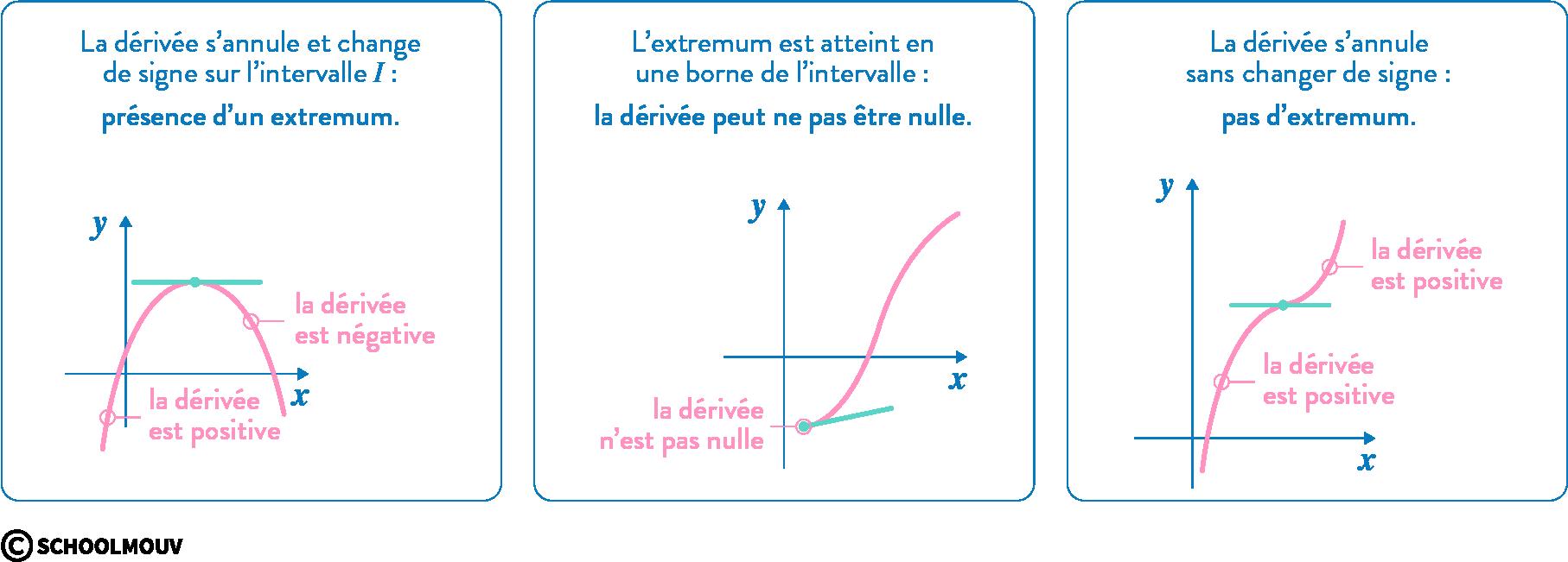 mathématiques première réforme dérivation variations courbes représentatives fonction extremum
