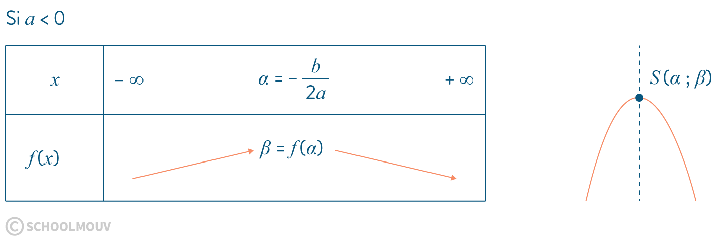 mathématiques première réforme dérivation variations courbes représentatives fonction