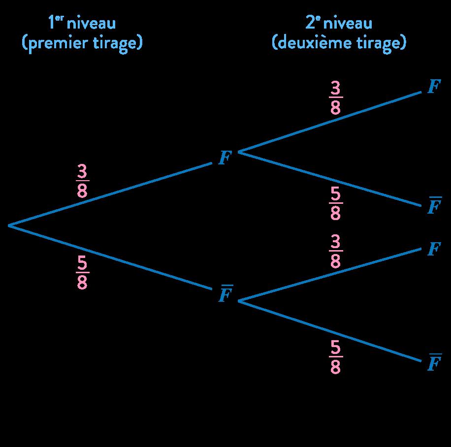 mathématiques première réforme loi probabilité variable aléatoire arbre pondéré