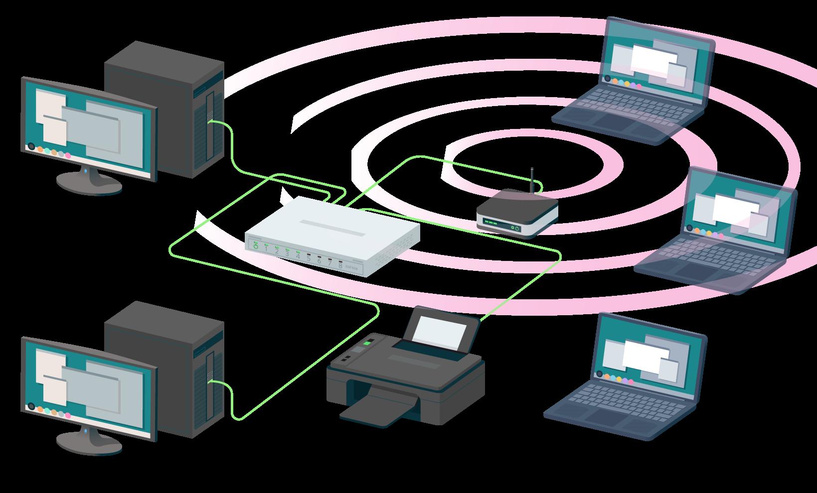 numérique sciences informatiques IP et le réseau local première exemple de réseau local