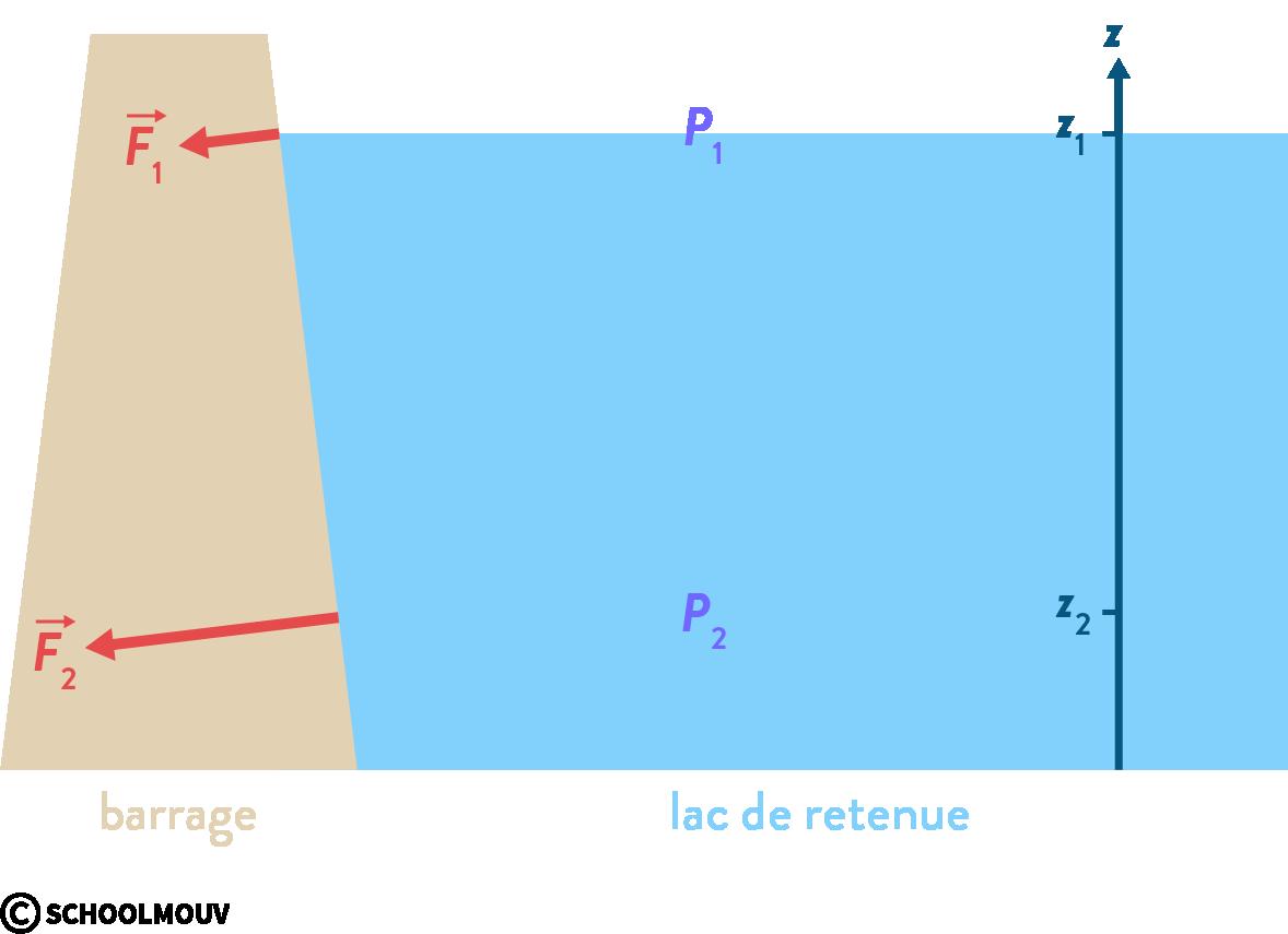 physique chimie première statique des fluides barrage pression