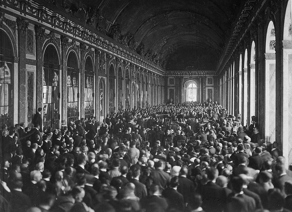 Signature du traité de Versailles dans la Galerie des Glaces, le 28 juin 1919 - Histoire - 1re - SchoolMouv