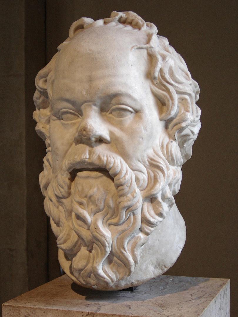 Socrate  (-470 à -399), musée du Louvre