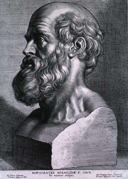 Hippocrate de Cos, gravure de Pierre Paul Rubens, 1638