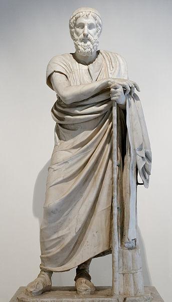 Statue d'Homère, photo ©Marie-Lan Nguyen CCBY2.5
