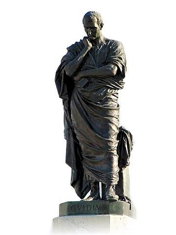 Ovide, statue d'EttoreFerrari, ©EttoreFerrari, CCBY-SA3.0