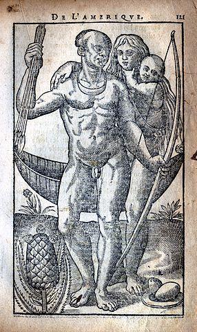 Gravure de l'<em>Histoire d'un voyage fait en la terre du Brésil</em>, dans l'édition de1611, CC01.0