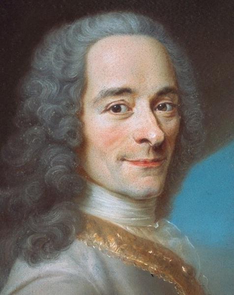Portrait de Voltaire, MauriceQuentin deLaTour, autour de1736