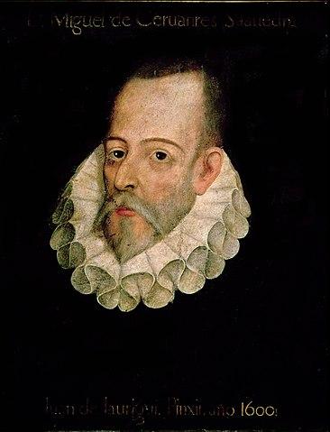 Portrait (imaginaire) de MigueldeCervantès attribué à JuandeJáuregui, autour de1600